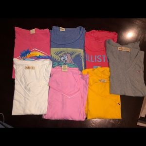 Hollister Shirt Lot